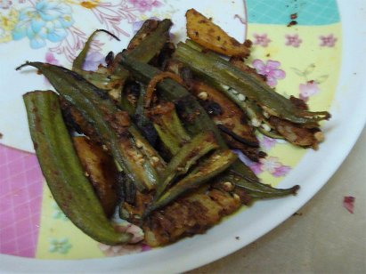 Bhindi Aloo Dry - Okra with Potato