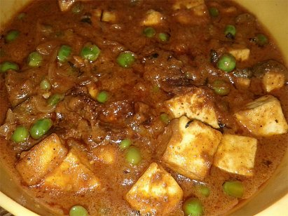 Matar Paneer - Cottage Cheese and Peas Curry