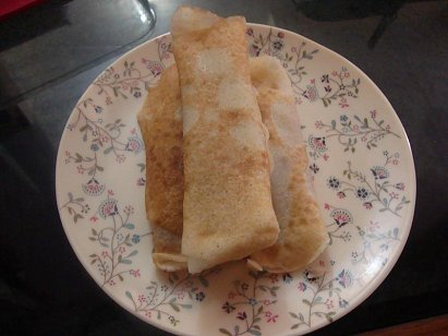 Patishapta Pitha - Sweet Pancakes with coconut filling